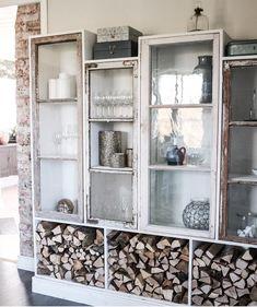 DIY, snyggaste förvaringen... Oh My Home, Shabby Home, Industrial House, Wood Storage, Window Wall, Home Interior Design, Interior Inspiration, House Plans, Sweet Home