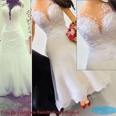 Detalhes 😍 ... Comparação do vestido de noiva com o resultado em Biscuit 😍 #topodebolocasamento #wedding #weddingdresses #vestidodenoiva #vestidonoiva #noivas #noiva #noivos #noivasp #voucasar #casar #casamento #noivinhos #noivinhospersonalizados #noivaspr #noivasrio #noivasbrasil #biscuit #noivinhosbiscuit #noivinhosbmw #caraarteembiscuit #noivinhoscaraarteembiscuit