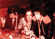 Donald Lyons (theatre critic), Pristine Condition (Cockette), and Lou Reed (singer/songwriter, nice Jewish boy) at Max's Kansas City.  1973-ish by Leee Black Childers