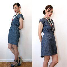 Milan Eco Denim dress  Hemp & Organic by SimonesRoseBoutique, $115.00