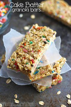 Cake Batter Granola Bars ‹