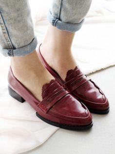 Classic Bordeaux Loafers
