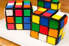 Rubik's Cube Cake – Surprise Inside Cake!
