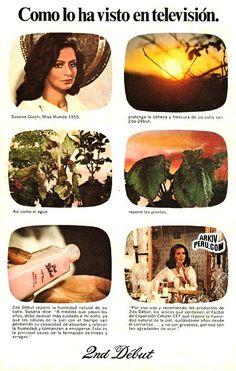 Publicidad de la crema segundo debut con Susana Duiwn años 70s