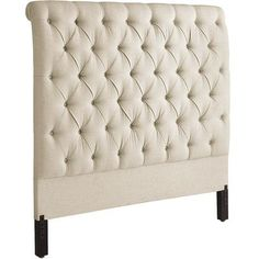 Audrey II Upholstered Flax Queen Headboard | Pier 1 Imports