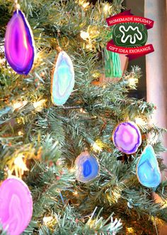 Homemade Holiday Gift Idea!: Make Gold Leaf Agate Ornaments — 2014 HOMEMADE HOLIDAY GIFT IDEA EXCHANGE: PROJECT #9