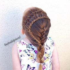 cute Dutch lace braid to ladder to french braid.