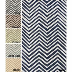 @Overstock - Invoke the feel and warmth of a country home with this stunning woolen hand-hooked rug. Meticulously made using a petit point stitches construction, make your favorite space feel right at home.http://www.overstock.com/Home-Garden/Handmade-Alexa-Chevron-Wool-Rug-5-x-8/6237730/product.html?CID=214117 $192.99