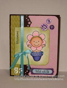 les cartes de sophie bienvenue b b je vous pr sente une carte pour la naissance d 39 une. Black Bedroom Furniture Sets. Home Design Ideas
