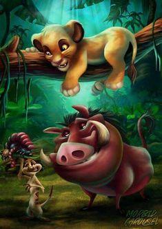 Hakuna matata, Sie haben & # t oder nicht, Hakuna Matata … Timon & Pumba *** – Micky – Minny & Co (Disney) – – Painting Simba Disney, Disney Lion King, Disney And Dreamworks, Cartoon Wallpaper, Cute Disney Wallpaper, Images Disney, Disney Pictures, Disney Kunst, Disney Art