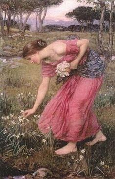 John William Waterhouse, reproductions and custom-made copies by REPRO-TABLEAUX.COM - Narcissus ~ John William Waterhouse ~ (English: More - John William Waterhouse, Portraits, Beautiful Paintings, Paintings Famous, Famous Artists, Oeuvre D'art, Love Art, Art History, Amazing Art