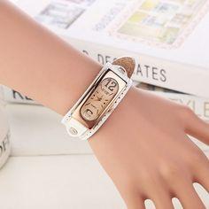 Women Fashion Vintage Quartz Watches Casual Bracelet Leather Watch Wristwatches For Ladies Analog Clock Relojes Mujer Feminino