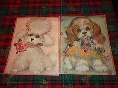 Vintage Poster Art Prints Puppy Dog 11x14 find me at www.dandeepop.com