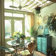 shabby chic sun room | Quirky conservatory | Traditional conservatory ideas | traditional ...