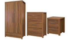 Groupon Goods Global GmbH: Sherwood Oak Foil Bedroom Furniture from £59.99 to With Free Delivery (Up to 62% Off)