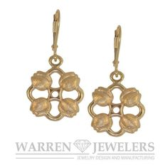 Garden Party Tulip Earrings look great worn on any woman's ears.  Designed for the Skagit Valley Tulip Festival by Warren Jewelers