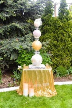 Couture Sphere Wedding Cake  by Sweet Delights By Krystal  - http://cakesdecor.com/cakes/262062-couture-sphere-wedding-cake