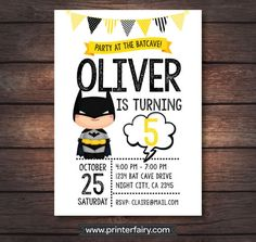 Invita a los niños a la fiesta de cumpleaños de tu peque con esta divertida invitación. #cumpleaños #invitaciones