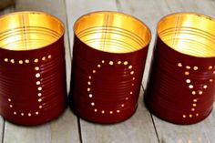 DIY Christmas Tin Can Luminaries -- 10 Pinterest-ing DIY Christmas Decor Ideas