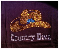 Cowgirl Country Diva Rhinestone bling  tshirt by BlingNInk on Etsy, $25.00