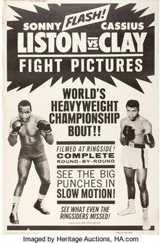 "Movie Posters:Sports, Liston vs. Clay (20th Century Fox, 1964). Poster (40"" X 60"").. ..."