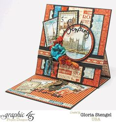 "Gorgeous ""Sending Thanks"" card by Gloria using Cityscapes #graphic45"