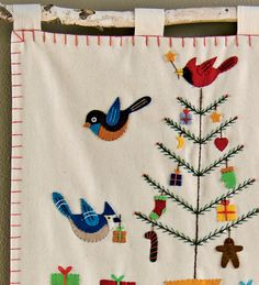Handmade Wool Felt Bird Advent Calendar - Magic Cabin