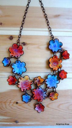 Polymer clay necklace by AnarinaAnar