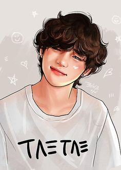 'BTS V' Photographic Print by REIZ-i - Best of Wallpapers for Andriod and ios Bts Taehyung, Taehyung Fanart, Bts Jimin, Anime Wolf, Foto Bts, K Pop, V Chibi, Bts Anime, Creation Art