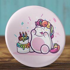 Boldog szülinapot unikornis mágnes - unicorn hűtőmágnes - happy birthday - ajándék - szülinap tükör - születésnap (AngelPin) - Meska.hu