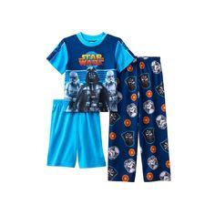 Boys 6-12 Star Wars 3-Piece Pajama Set, Boy's, Size: 12, Multicolor