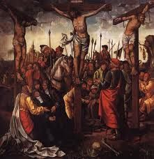 In the Calvary, Christ is crucified between the Good Thief and the Bad Thief, accompanied in his pain by the swooning Virgin, Mary Magdalene, St. Pontius Pilate, Rhythmic Pattern, Portuguese Culture, The Descent, The Cross Of Christ, Renaissance Era, Mary Magdalene, The Spectator, Paint Designs