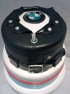 BMW Leather Jacket Birthday Cake For Boyfriend, Birthday Cakes For Men, Cakes For Boys, Bike Cakes, Truck Cakes, Bmw Cake, Motorcycle Cake, Specialty Cakes, Novelty Cakes