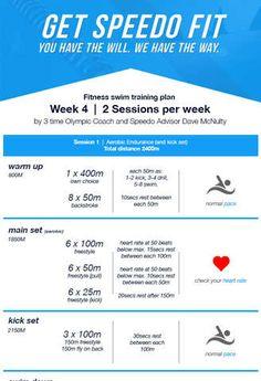 Dave McNulty Swim Fitness Training Plan - Week 4 * Speedo