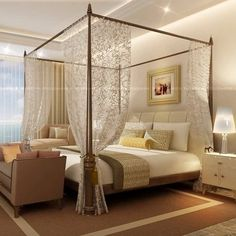 mosquito net bedroom We share many pictures about Dream bedroom. Royal Bedroom, Bedroom With Bath, Bedroom Bed Design, Girl Bedroom Designs, Home Room Design, Master Bedroom, Bedroom Decor, Dream Rooms, Dream Bedroom