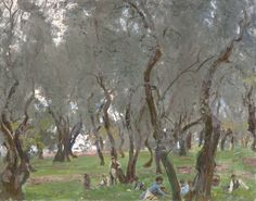 Grandiloquences — The Olive Grove John Singer Sargent (American;... Pick Art, Indianapolis Museum, John Singer Sargent, Sargent Art, Famous Artwork, Figure Painting, American Artists, Art Google, Landscape Paintings