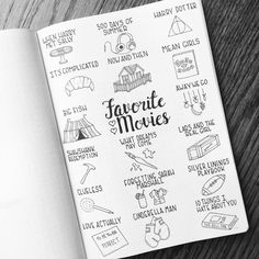 804 отметок «Нравится», 36 комментариев — BuJo_Blossoms  (@bujo_blossoms) в Instagram: «Favorite Movies  . I realized while making this that I could probably have 3-4 movie pages just…»