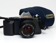 Canon T50 35mm Film SLR Vintage Camera w/ f1.8 50mm Canon FD Lens by ValueBliss on Etsy