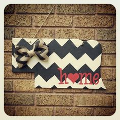 Nebraska Door Hanger...Someone should make this for me
