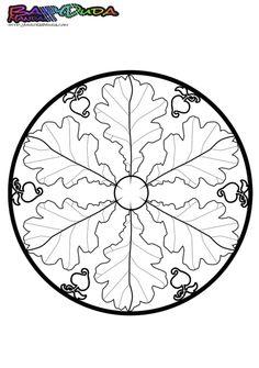 Mandala zum Herbst: Schau Dir das Bild an auf BabyDuda - http://babyduda.com/herbst-mandala-ausmalbilder-und-malvorlagen/