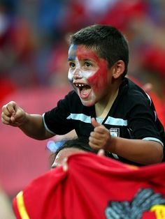 Young Chilean fan at Chile vs Australia game