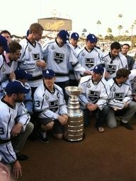 Stanley Cup at the Dodgers Game