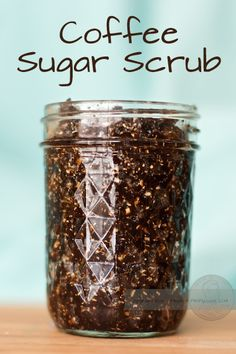 Coffee Sugar Scrub: 1/3 cup ground coffee, 1/3 cup oatmeal, 1/3 cup brown sugar, 1/2 cup olive oil. Shower, or bathe, and enjoy!