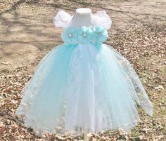 Aqua+and+white+flower+girl+dress.+Baby+toddler+by+DesignedByDaph,+$28.00