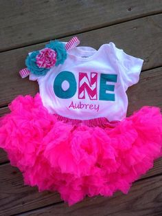 Items similar to Hot pink chevron and teal birthday outfit - birthday shirt and headband - ONE birthday outfit on Etsy 1 Year Old Birthday Party, 1st Birthday Shirts, 1st Birthday Outfits, 1st Birthday Parties, Birthday Ideas, 1st Birthday Princess, Baby Girl First Birthday, Twins 1st Birthdays, Hot Pink