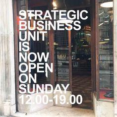 SBU is opere every SUNDAY. Strategic Business Unit, Sunday, The Unit, Domingo