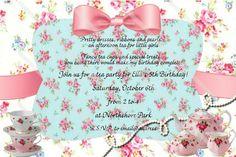 Vintage Tea Party Shower Custom Personalized Invitation Digital File Download on Etsy, $14.00
