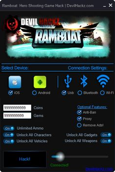 Ramboat Hero Shooting Game Hack iOS Android Cheats Download Ramboat Hero Shooting Game Hack iOS Android Cheats only at: http://devilhackz.com/07/ramboat-hero-shooting-game-hack-ios-android-cheats/  Ramboat Hero Shooting Game Hack iOS Android Cheats – Unlimited Coins, Unlimited Gems, Unlimited Ammo, Unlock All Characters, Unlock All Vechicles, Unlock All Gadgets, Unlock All Weapons. For iOS and Android. No Jaibreak or Root required. Free in Use Ramboat Hero Shooting Game Hack. Working Free…