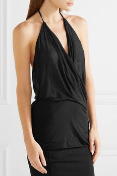 Black stretch-jersey Slips on 70% viscose, 15% cotton, 15% polyamide Hand wash Made in Italy