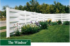 Beautiful white fence